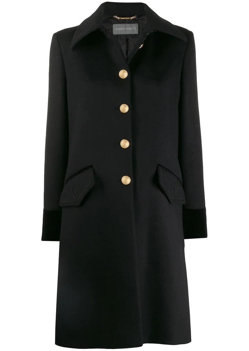 Alberta Ferretti single-breasted fitted coat