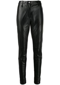Alberta Ferretti slim-fit leather trousers