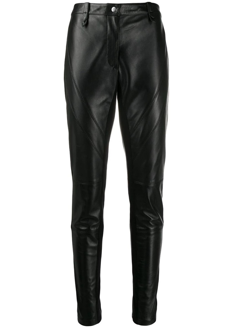 Alberta Ferretti slim-fit leather trousers