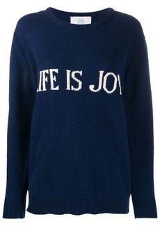 Alberta Ferretti slogan print jumper