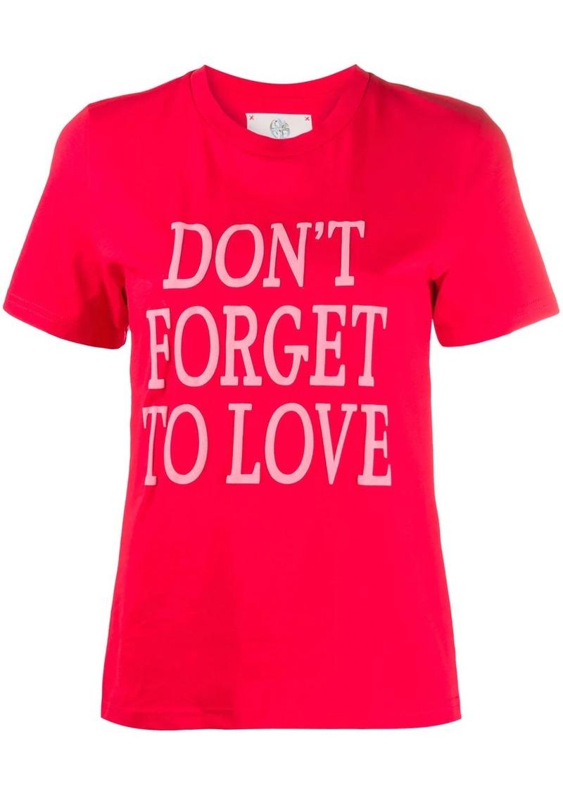 Alberta Ferretti slogan print T-shirt