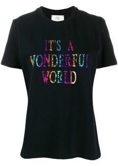 Alberta Ferretti slogan printed T-shirt