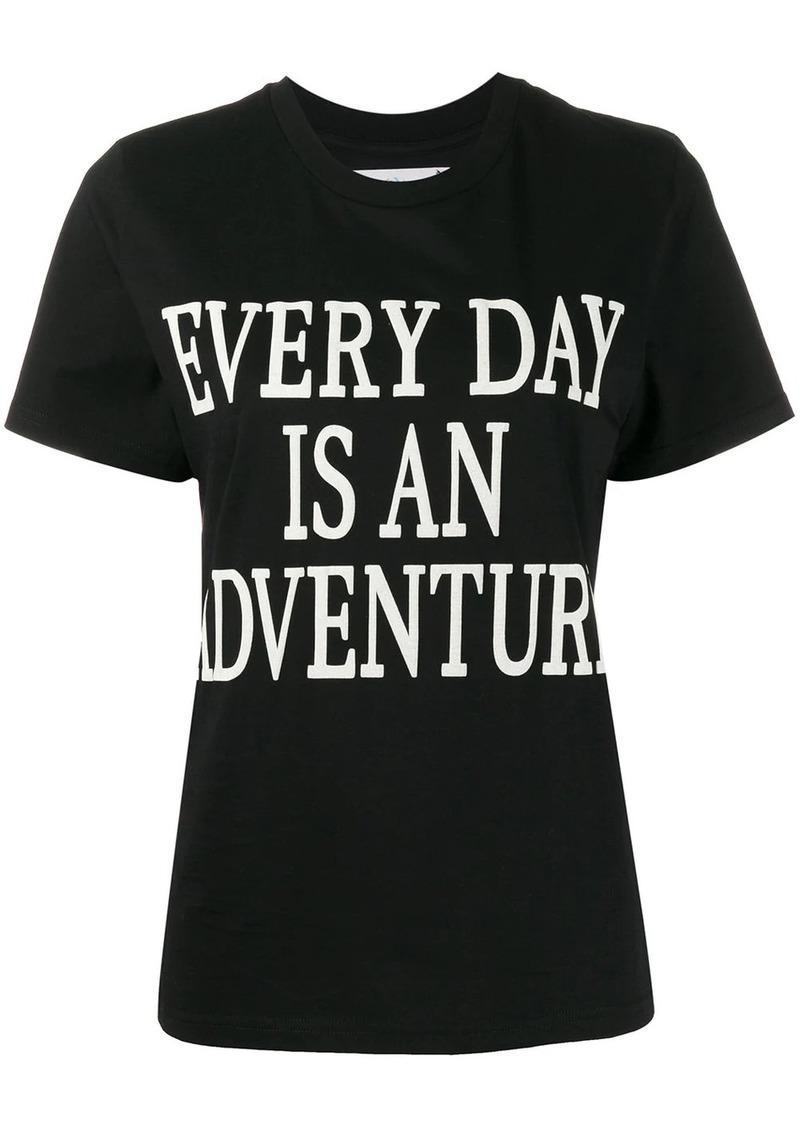 Alberta Ferretti slogan short-sleeve T-shirt