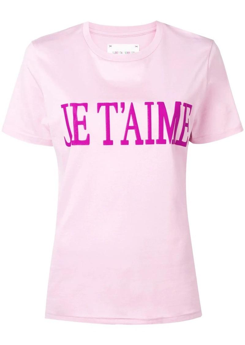 Alberta Ferretti slogan T-shirt