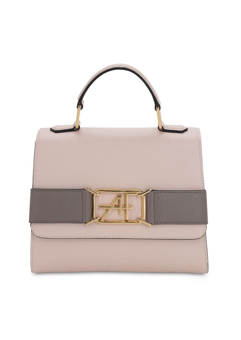 Alberta Ferretti Small Grained Leather Top Handle Bag