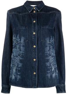 Alberta Ferretti sprayed-print denim jacket