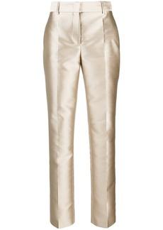 Alberta Ferretti straight-leg shimmer trousers