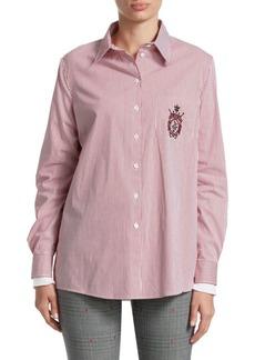 Alberta Ferretti Striped Button-Down Shirt