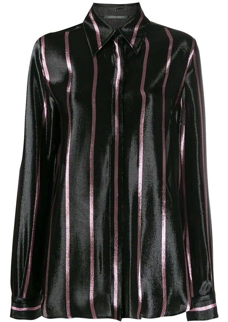 Alberta Ferretti long sleeved striped shirt