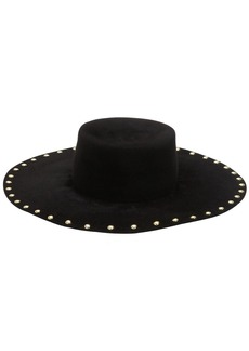 Alberta Ferretti Studded Fur Felt Hat