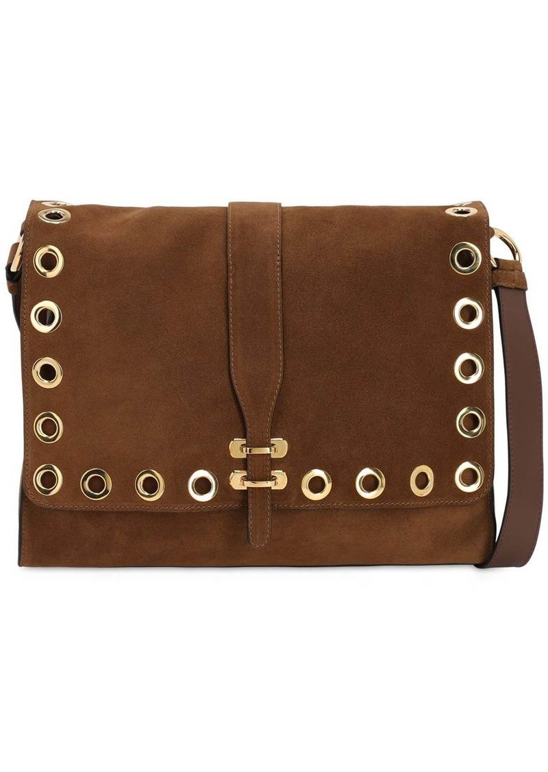 Alberta Ferretti Suede Shoulder Bag