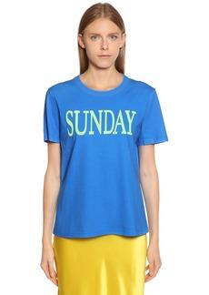 Alberta Ferretti Sunday Cotton Jersey T-shirt