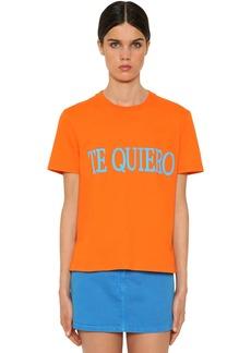 Alberta Ferretti Te Quiero Cotton Jersey T-shirt