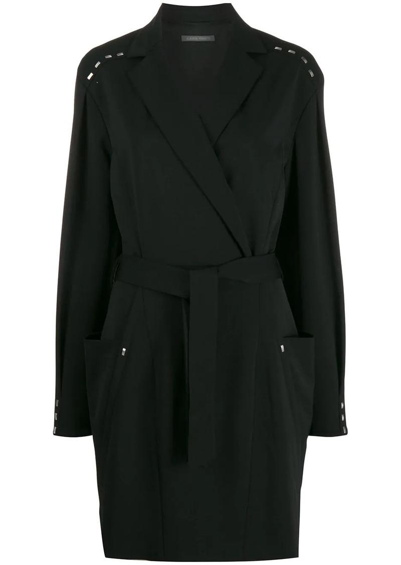 Alberta Ferretti tie waist blazer dress