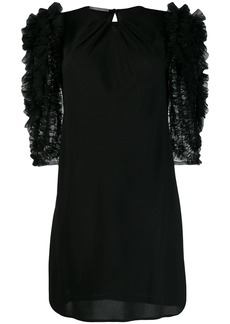 Alberta Ferretti tulle-panelled dress
