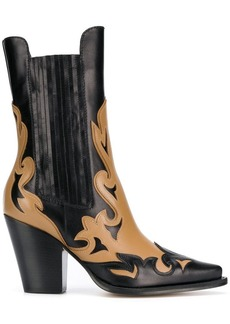 Alberta Ferretti two tone cowboy boots