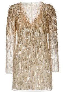 Alberta Ferretti V-neck sequin-embellished dress