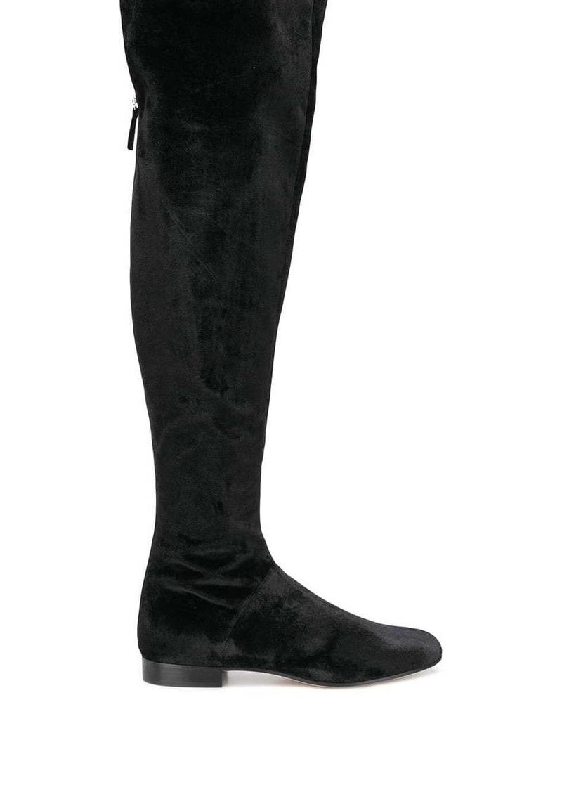 Alberta Ferretti velvet over-the-knee boots