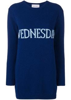 Alberta Ferretti Wednesday sweater dress