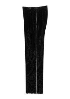 Alberta Ferretti Wide Leg Velvet Pants