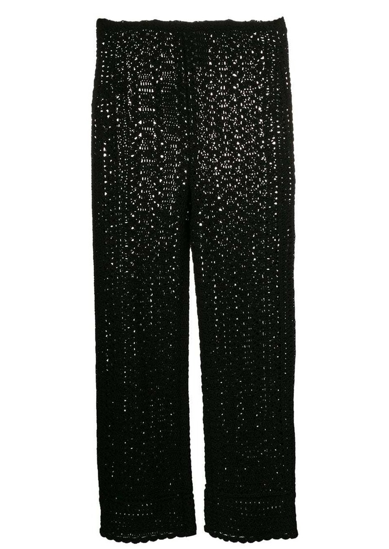 Alberta Ferretti woven detail trousers