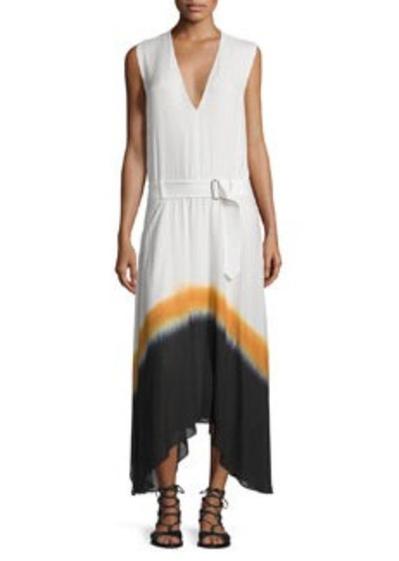 A.L.C. Deloro Silk Tie-Dye Maxi Dress