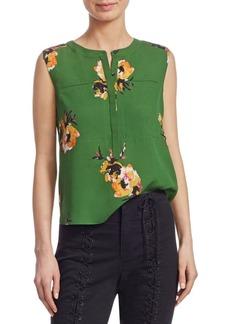 A.L.C. Adela Sleeveless Silk Floral-Print Blouse