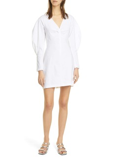 A.L.C. Aila Long Sleeve Linen Blend Minidress
