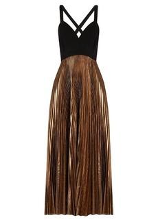 A.L.C. Alba V-neck pleated dress