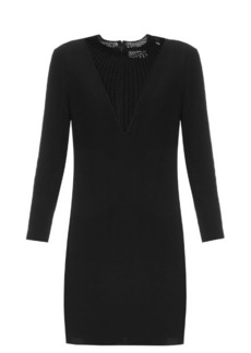 A.L.C. Allie crochet-insert crepe dress