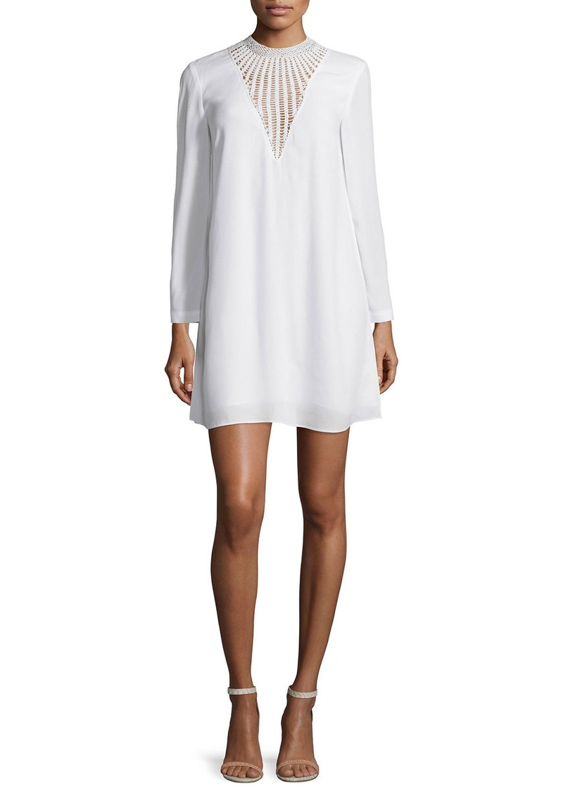 A.L.C. Allie Long-Sleeve Crepe Shift Dress