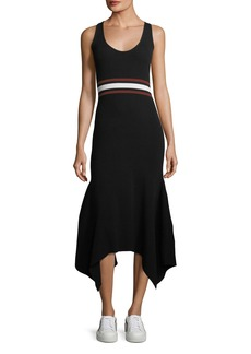 A.L.C. Anders Scoop-Neck Sleeveless Fitted Handkerchief-Hem Dress
