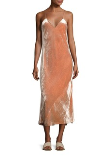 A.L.C. Annex V-Neck Velvet Maxi Dress