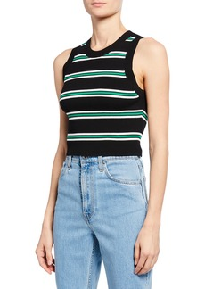 A.L.C. Archer Striped Sleeveless Crop Top