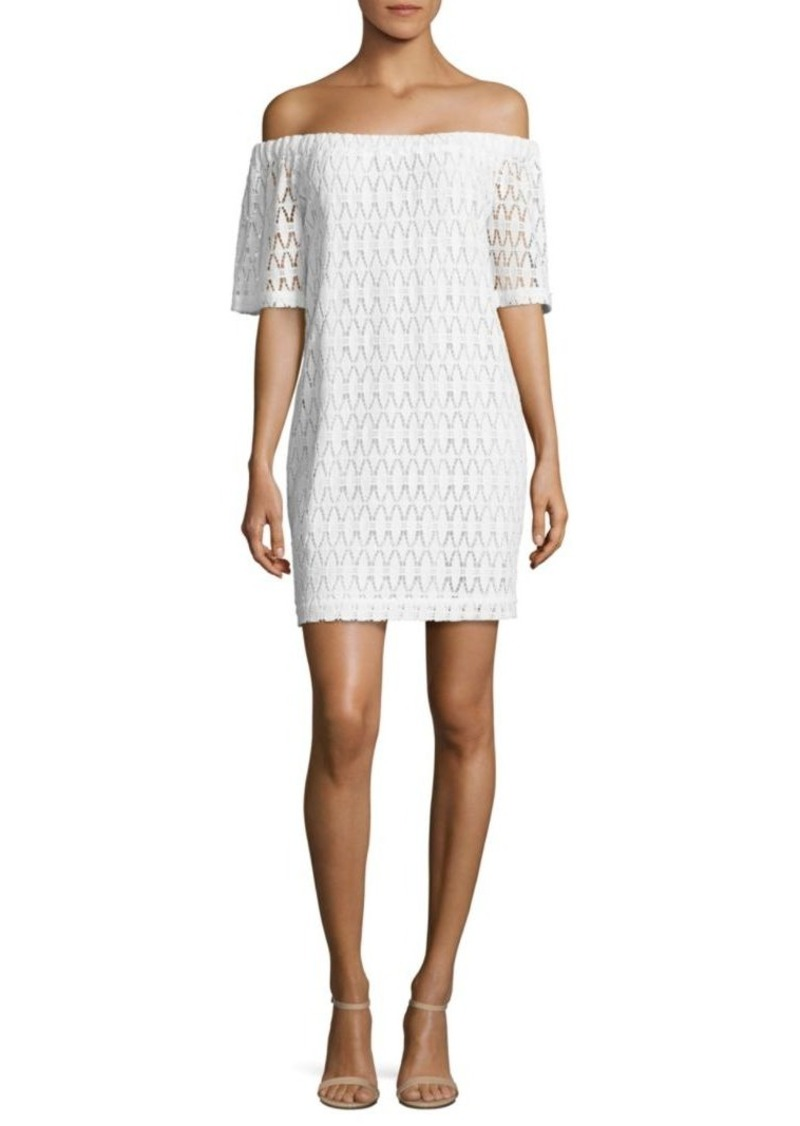 A.L.C. Ario Crochet Off-The-Shoulder Dress