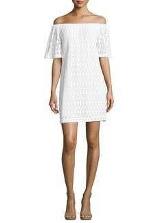A.L.C. Ario Crocheted Off-the-Shoulder Dress