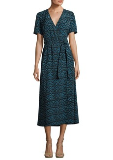 A.L.C. Asa Embroidered Midi Dress
