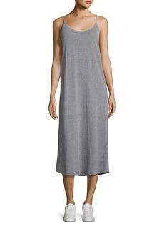 A.L.C. Asher Striped Linen Jersey Midi Dress