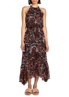 A.L.C. Bardot Silk Blend Halter Dress