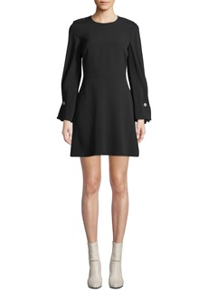 A.L.C. Bennet Long-Sleeve Mini Dress with Button Details
