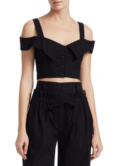 A.L.C. Blake Cold Shoulder Crop Top