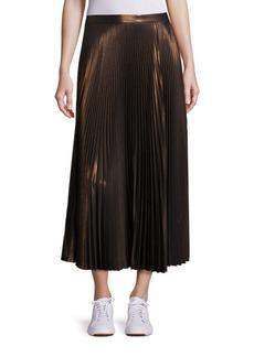 A.L.C. Bobby Pleated Metallic Skirt