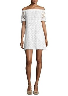 A.L.C. Bolen Off-the-Shoulder Embroidered Mini Dress