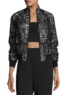 A.L.C. Boxy Paneled Lace Jacket