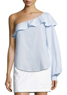 A.L.C. Brielle One-Shoulder Poplin Top