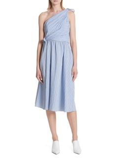 A.L.C. Cabrera Stripe One-Shoulder Dress