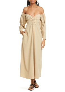 A.L.C. Calley Long Sleeve Off The Shoulder Maxi Dress