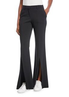 A.L.C. Capen Flared-Leg Split-Hem Pants
