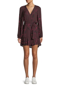 A.L.C. Carlo Floral-Print Mini Wrap Dress
