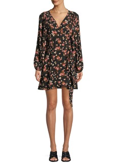 A.L.C. Carlo Floral Silk Wrap Dress